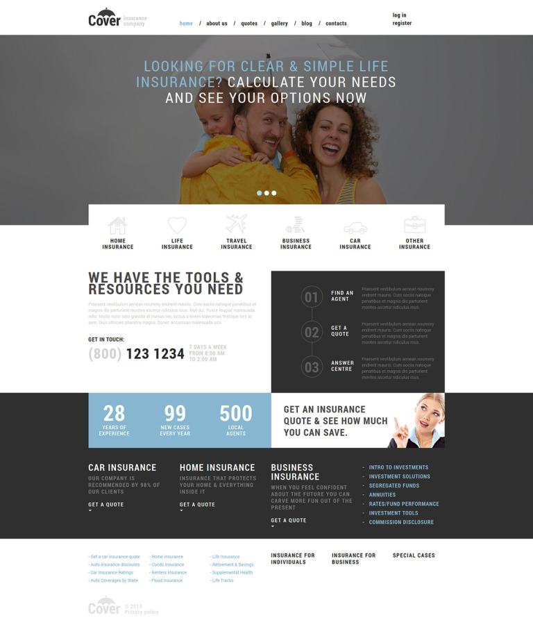Insurance Company Joomla Template New Screenshots BIG