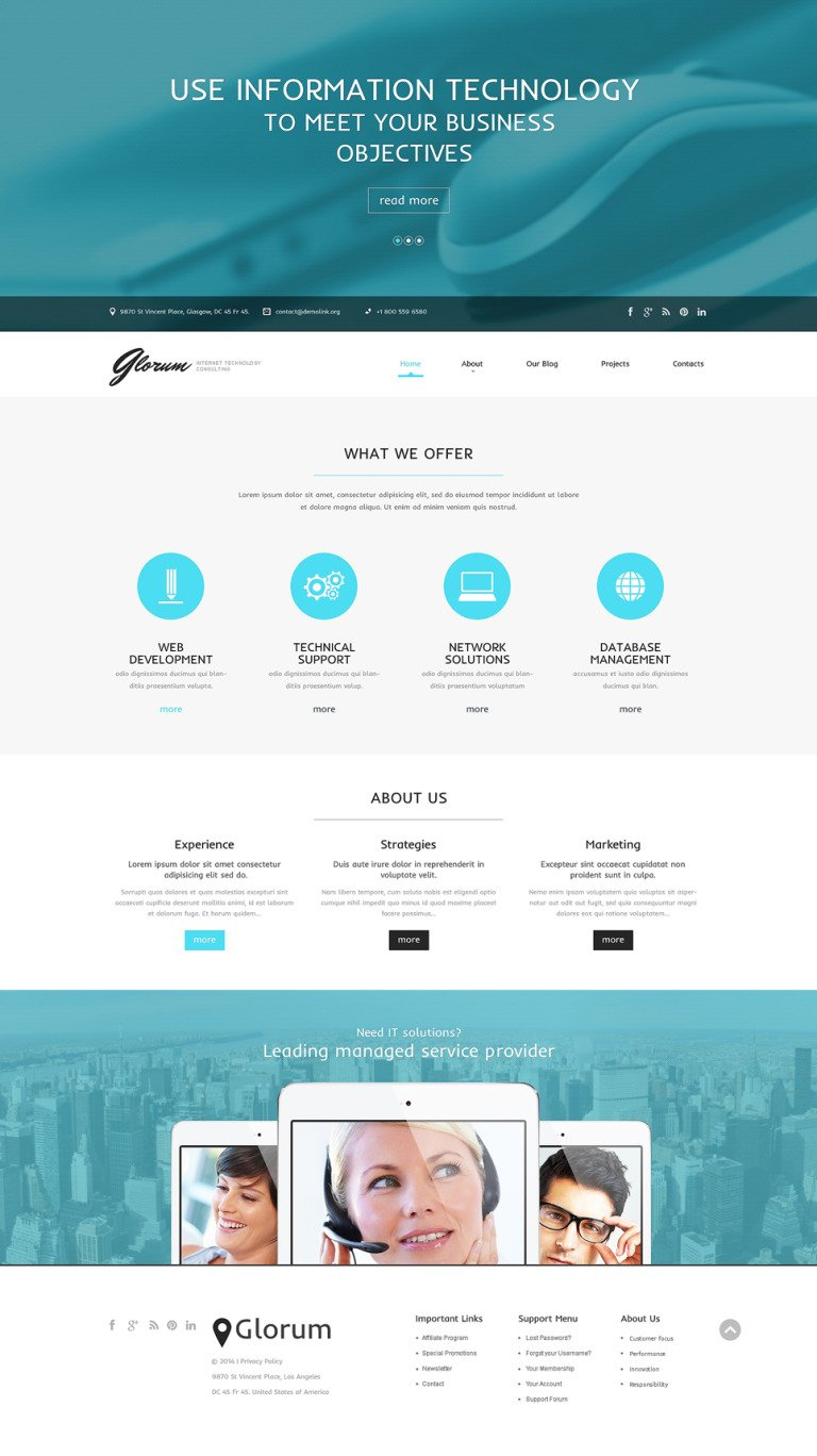 Internet Responsive WordPress Theme New Screenshots BIG