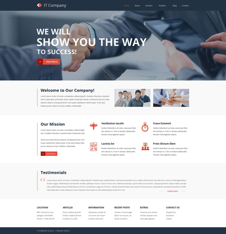 IT Responsive Website Template New Screenshots BIG
