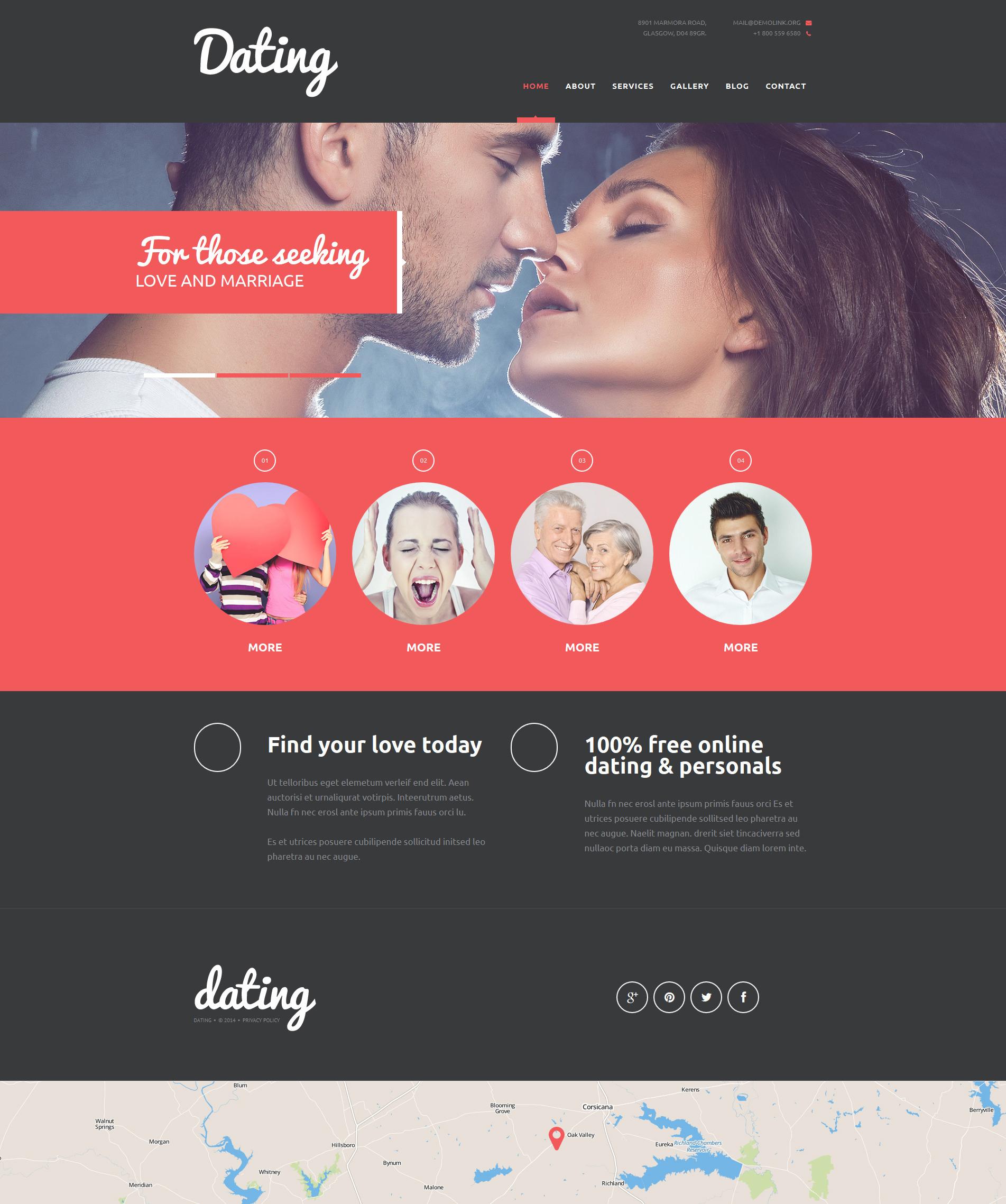 """""""Lifelong Romance Agency"""" thème Joomla adaptatif #50913"""