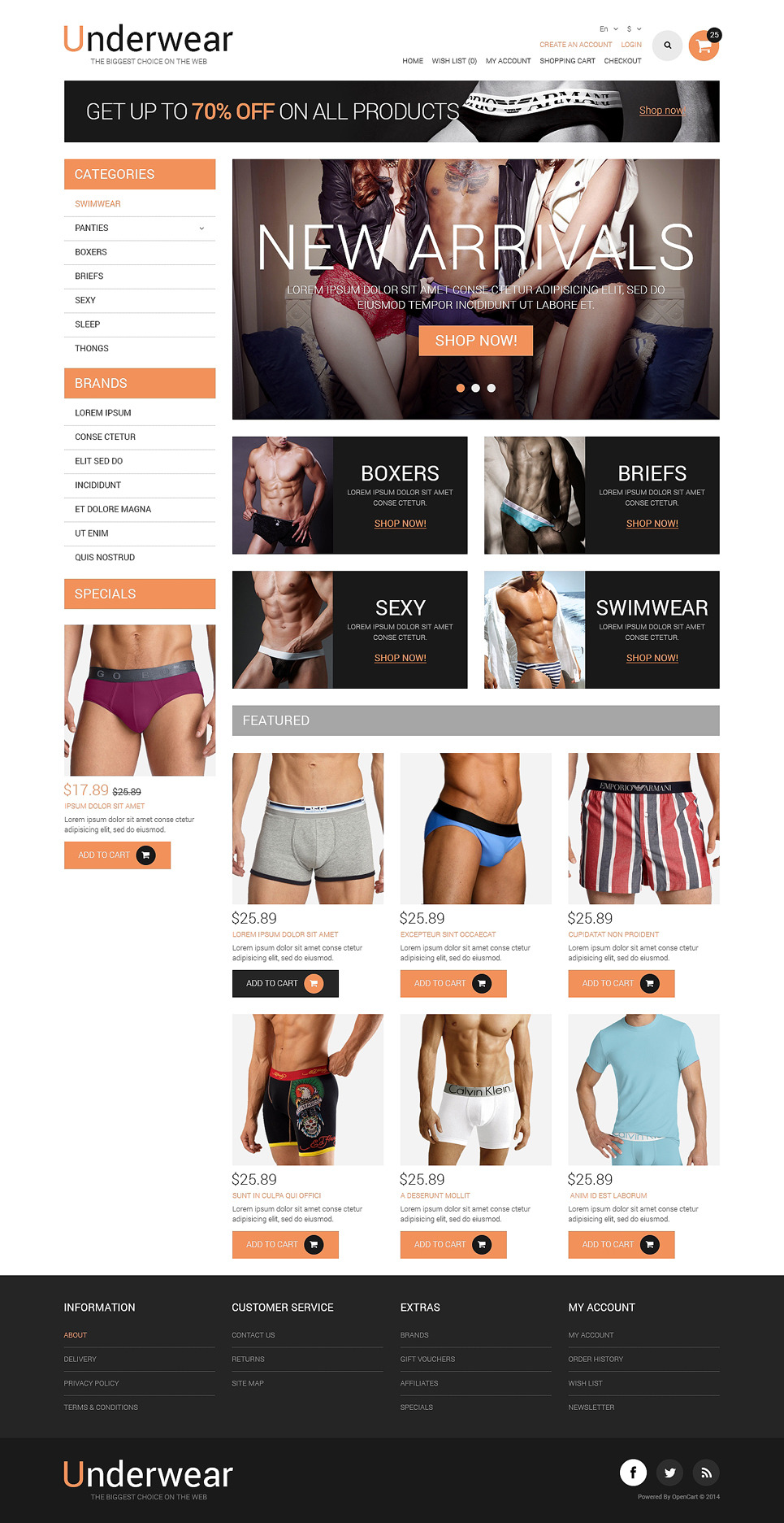 Lingerie Responsive OpenCart Template New Screenshots BIG