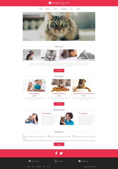 Animals & Pets Tema Drupal