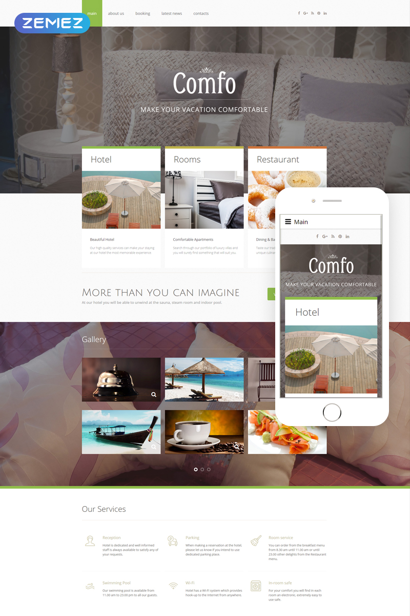 "Modello Joomla Responsive #50921 ""Cozy Vacation"""
