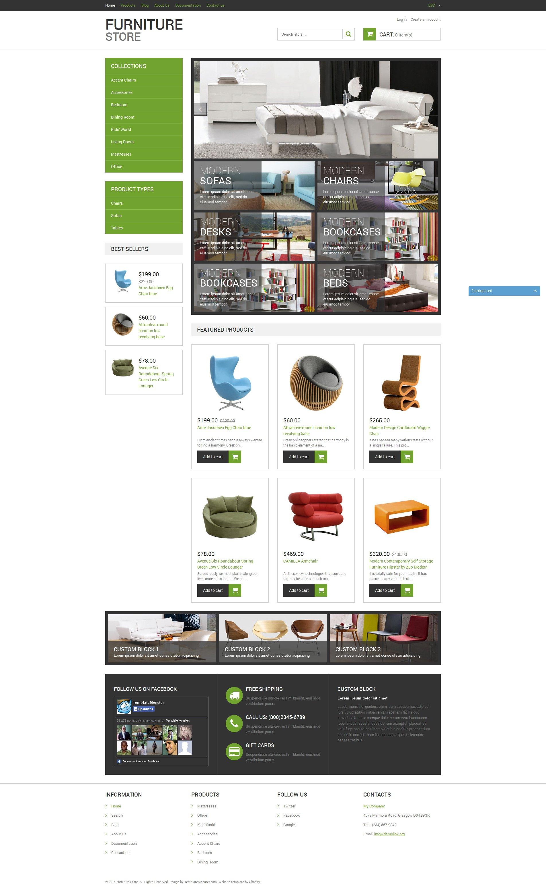 Modern Furniture Tema de Shopify №50939