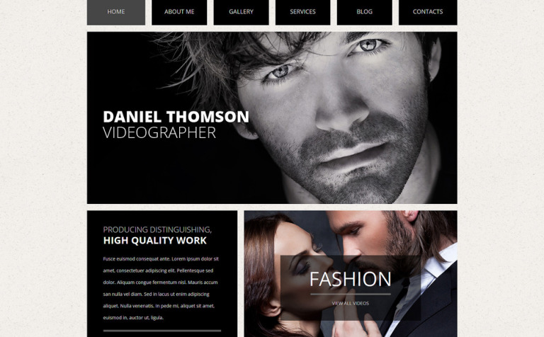 online portfolio joomla template 50983