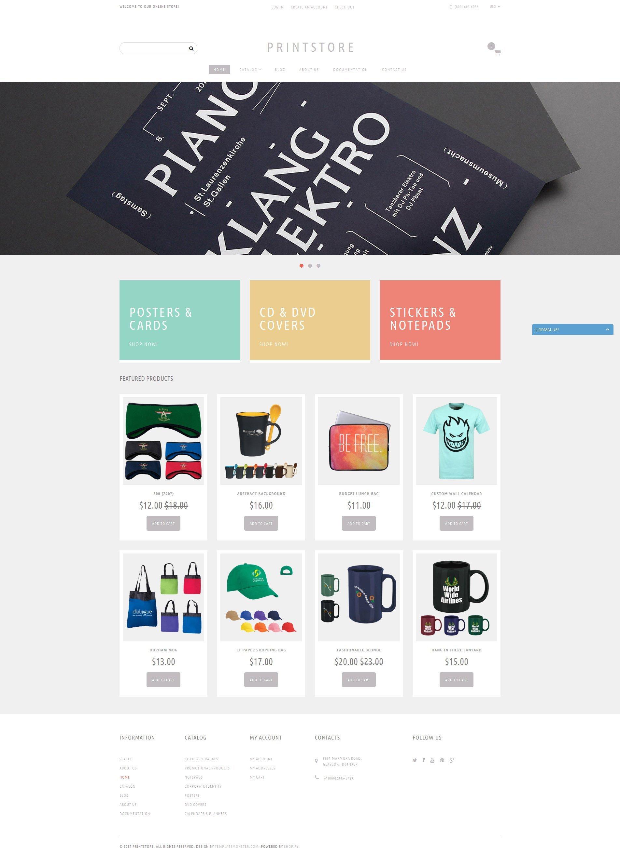 Online Print Shop Shopify Theme - screenshot