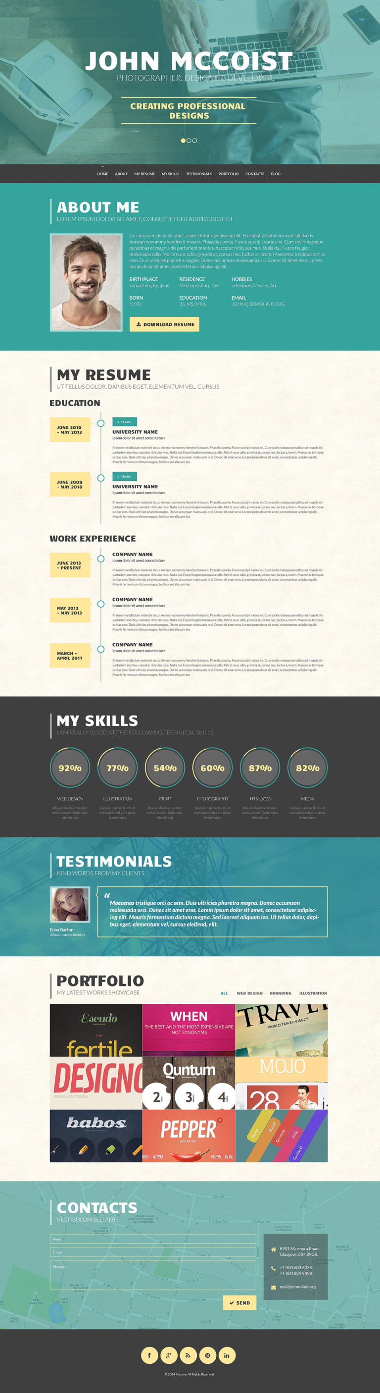 Persuasive Web Portfolio WordPress Theme New Screenshots BIG