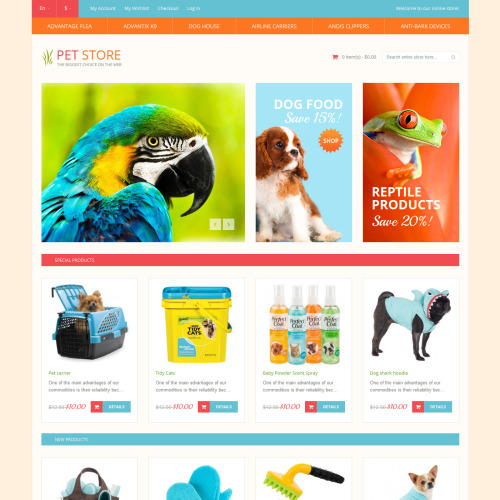 Pet Store - Responsive Magento Template