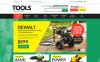 Plantilla PSD #50952 para Sitio de  para Sitio de Herramientas y Equipos New Screenshots BIG