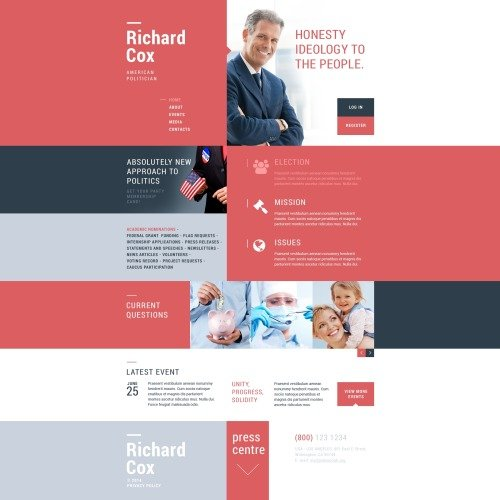 Richard Cox - Responsive Website Template