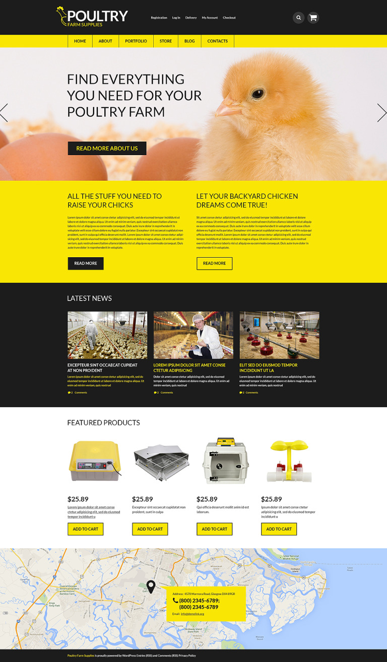 Poultry Farm Supplies WooCommerce Theme New Screenshots BIG