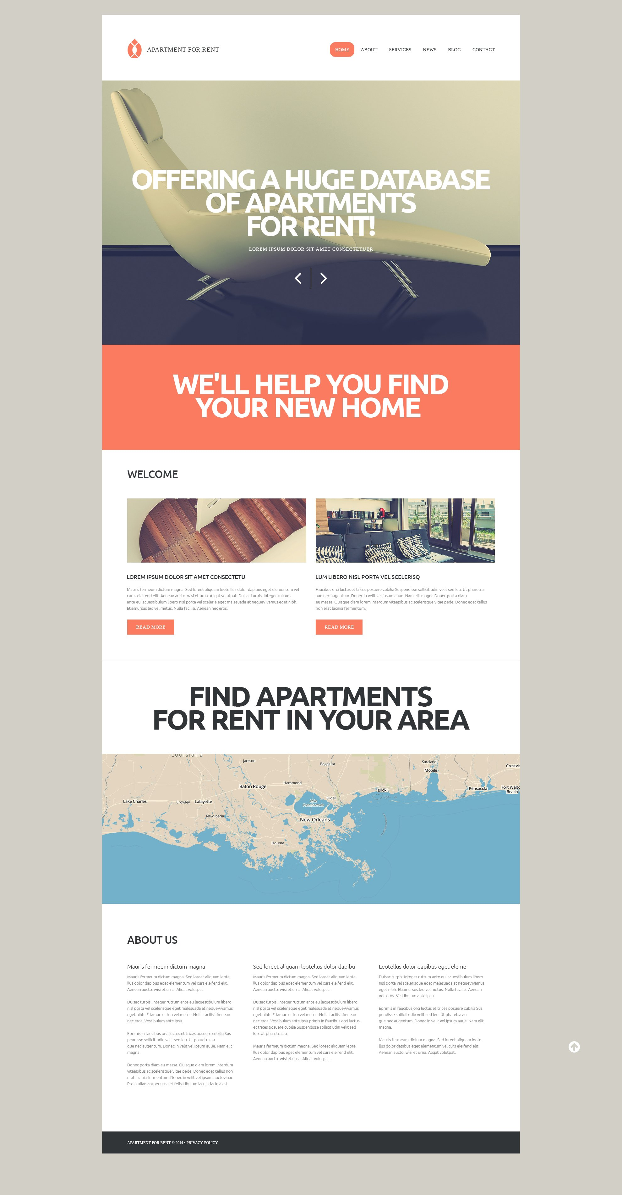 Rental Services WordPress Theme - screenshot