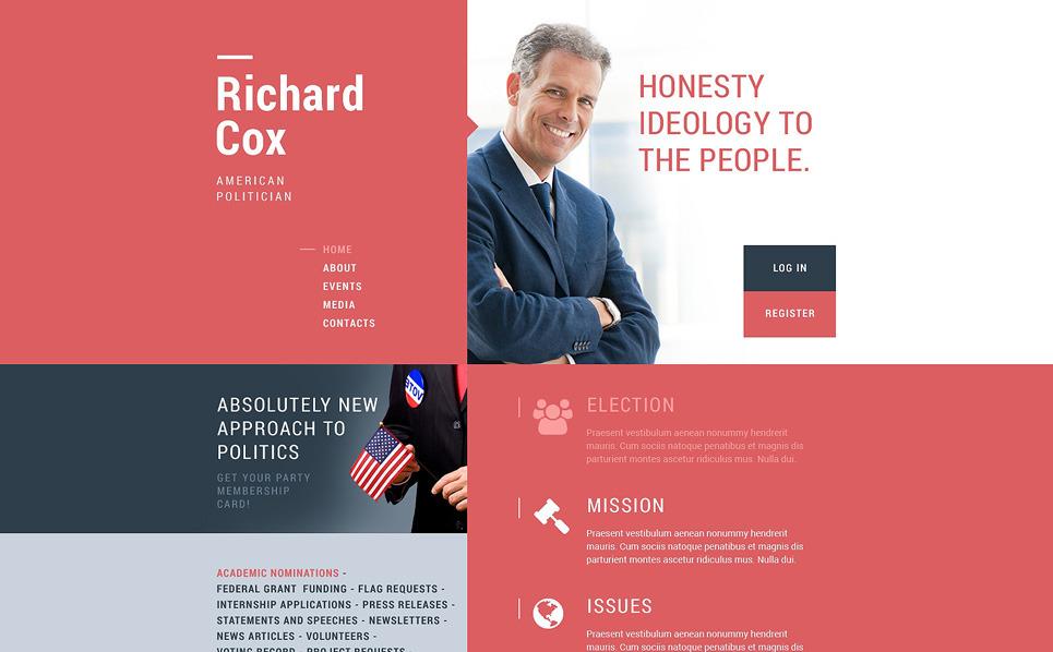 Responsive Website Vorlage für Politischer Kandidat  New Screenshots BIG