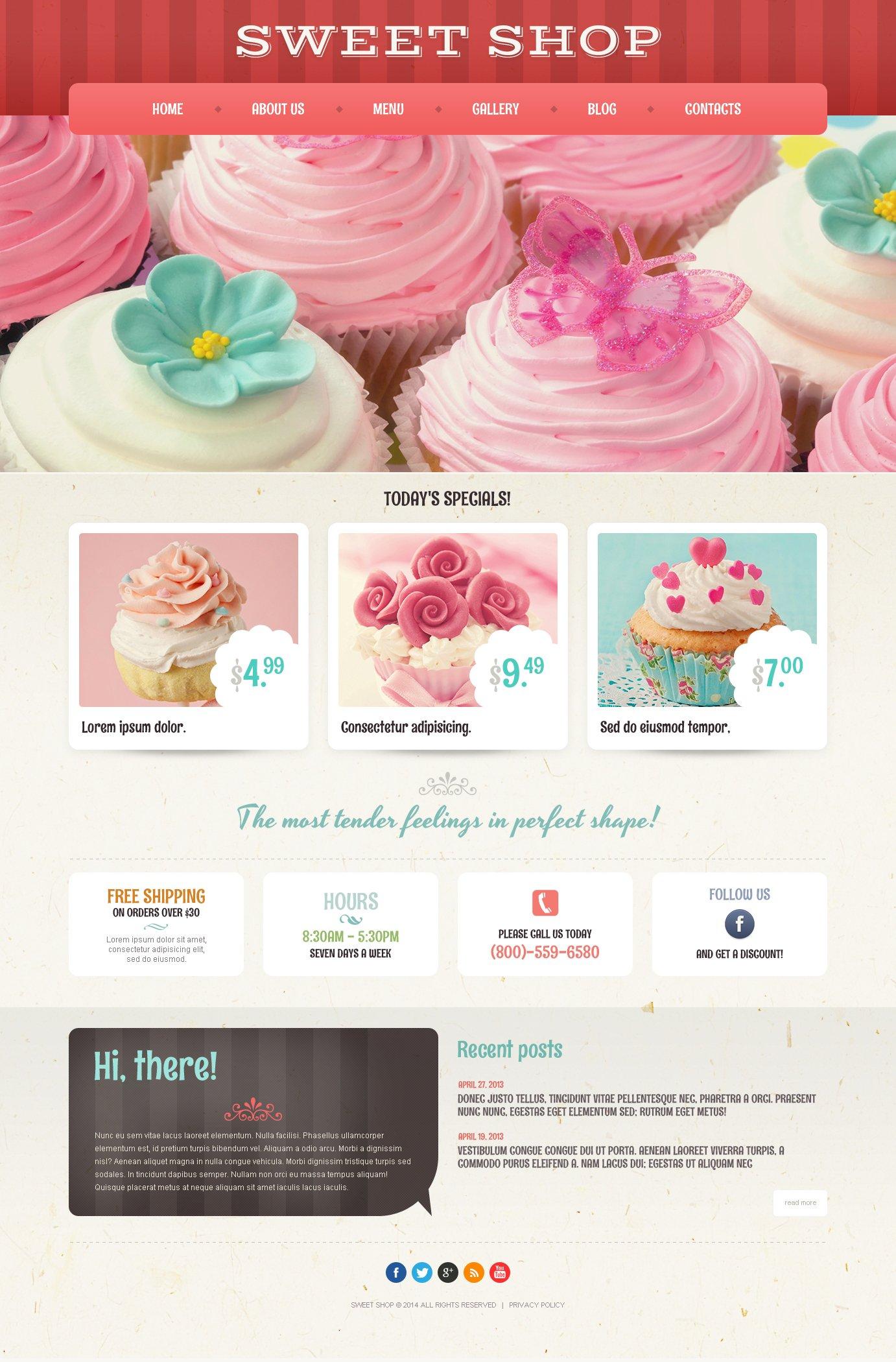 Responsywny motyw WordPress Kawiarnia i restauracja #50935 - zrzut ekranu