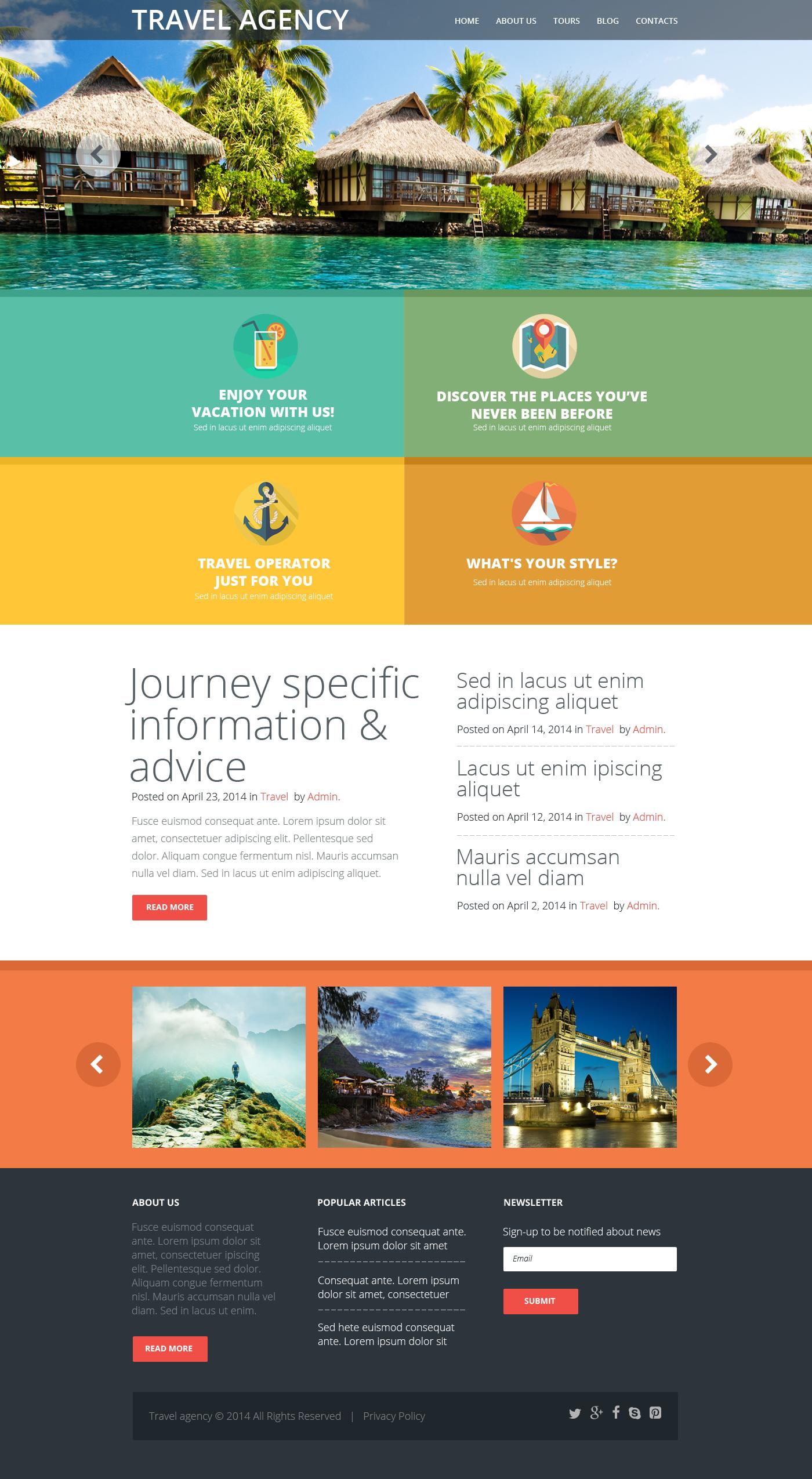 Responzivní Šablona webových stránek na téma Cestovní kancelář #50997
