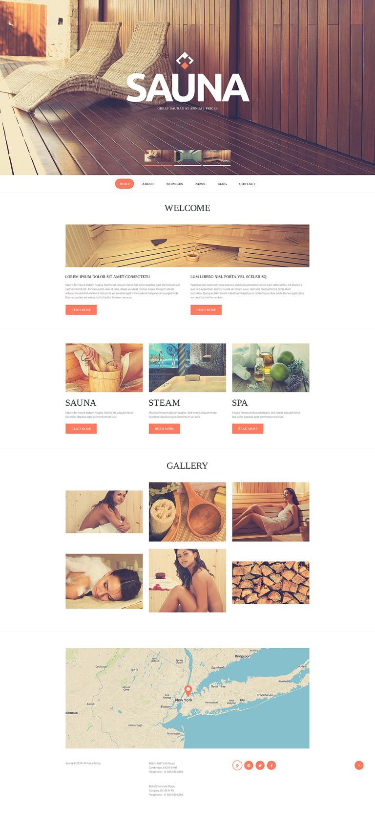 Sauna Responsive Website Template New Screenshots BIG