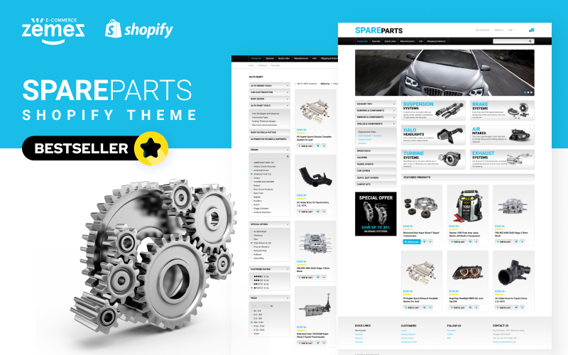 "Shopify Theme namens ""Ersatzteile"" #50966"