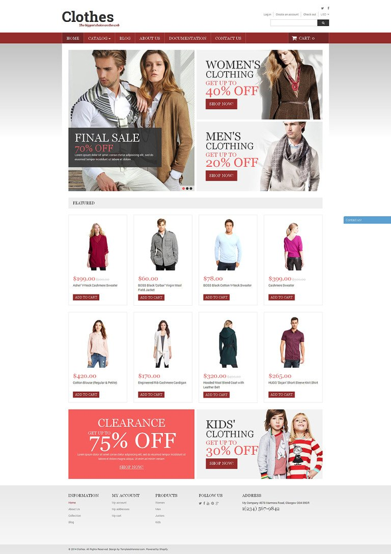 Stylish Clothes Shopify Theme New Screenshots BIG