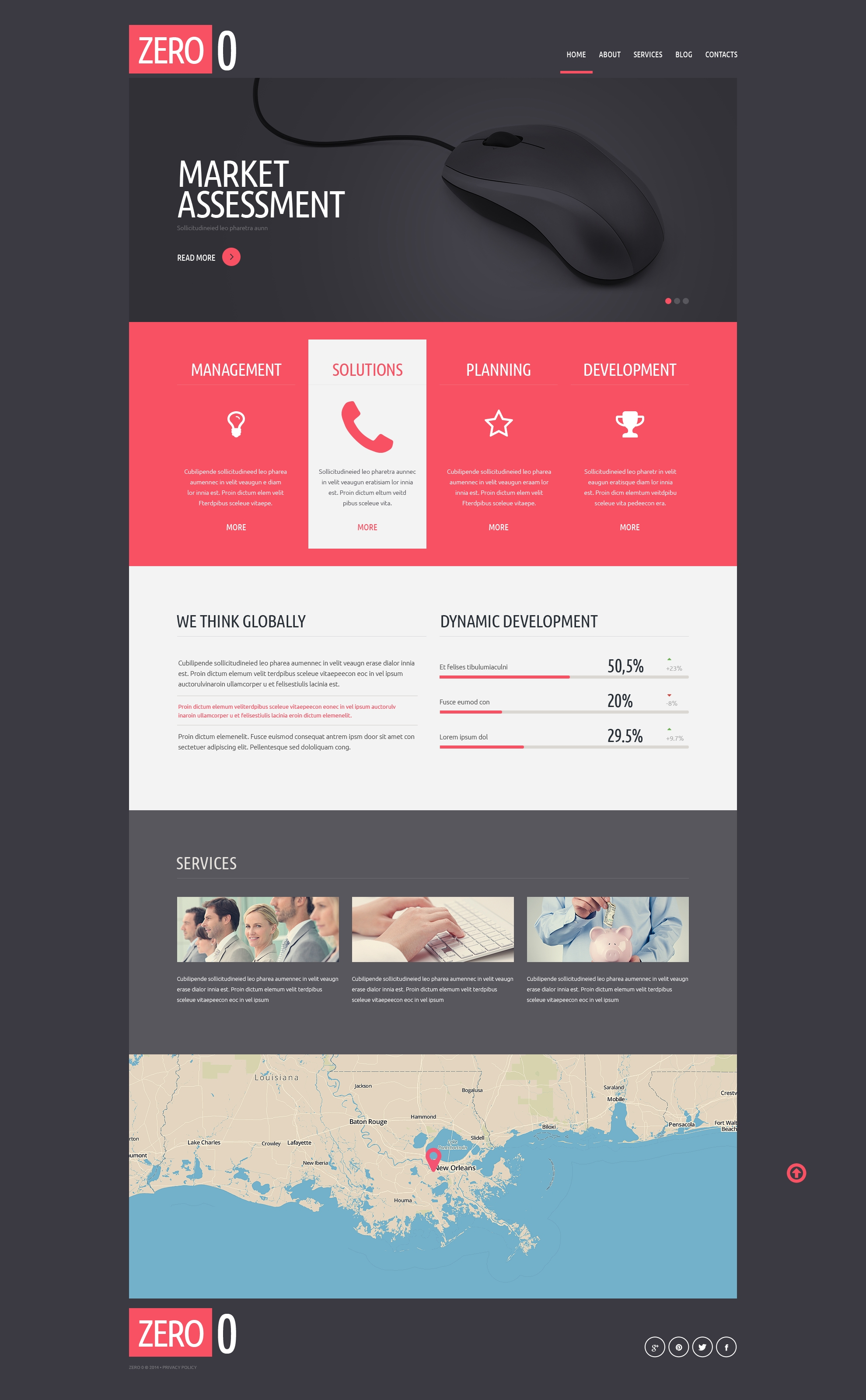 Successful Business Strategy Joomla Template - screenshot
