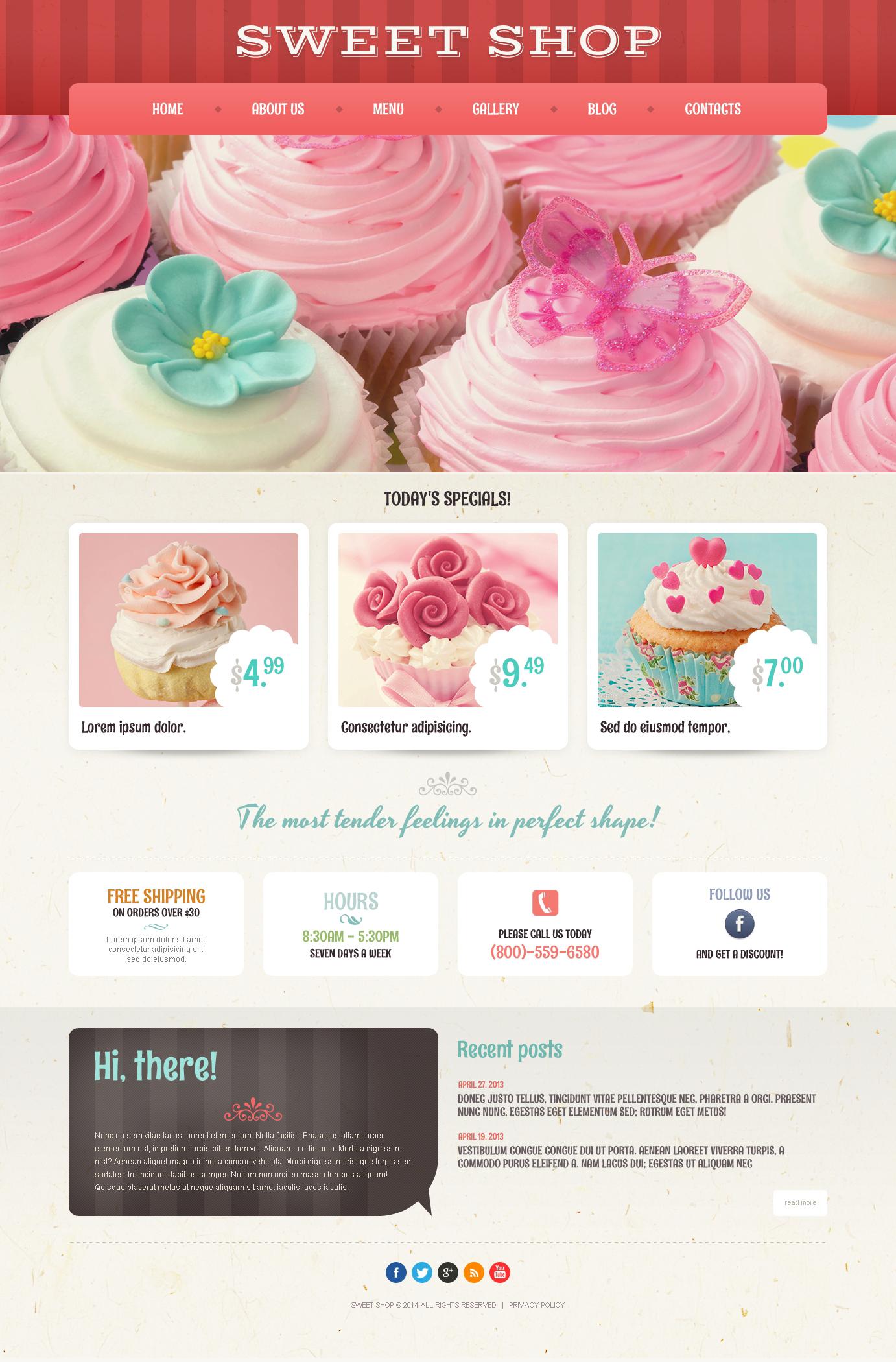 """Tema De WordPress """"Cafetería y Restaurante"""" #50935 - captura de pantalla"""