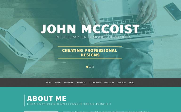 Tema de WordPress #50910 para Sitio de Portafolios de diseñadores