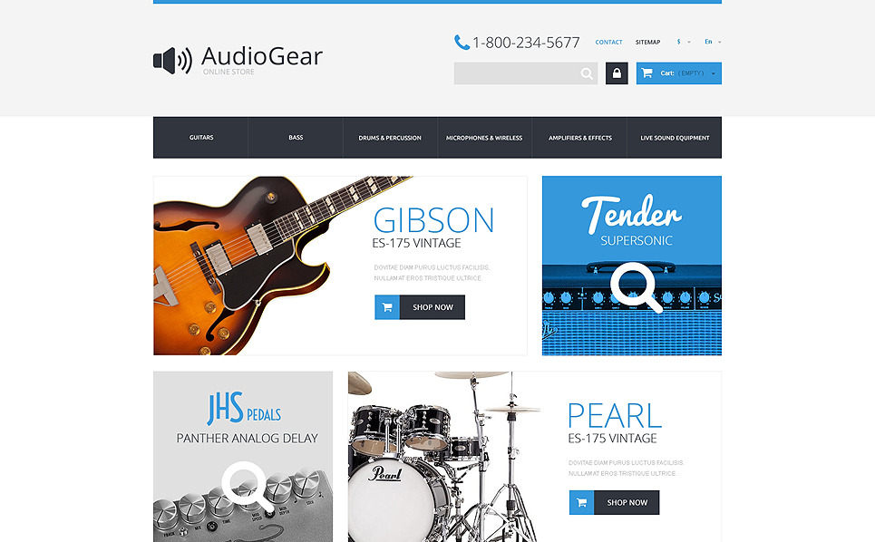 Tema PrestaShop  Flexível para Sites de Loja de Música №50987 New Screenshots BIG