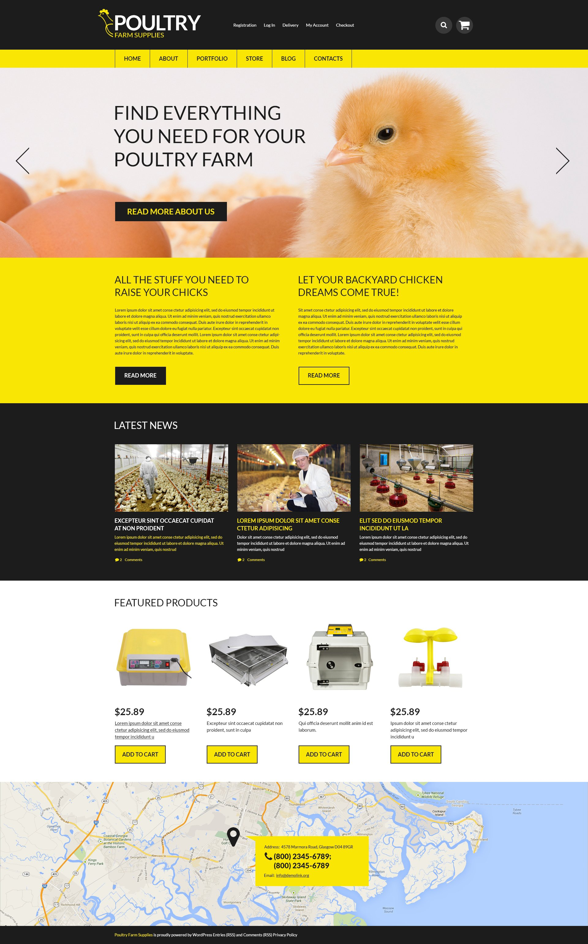 """Tema WooCommerce """"Poultry Farm Supplies"""" #50926"""