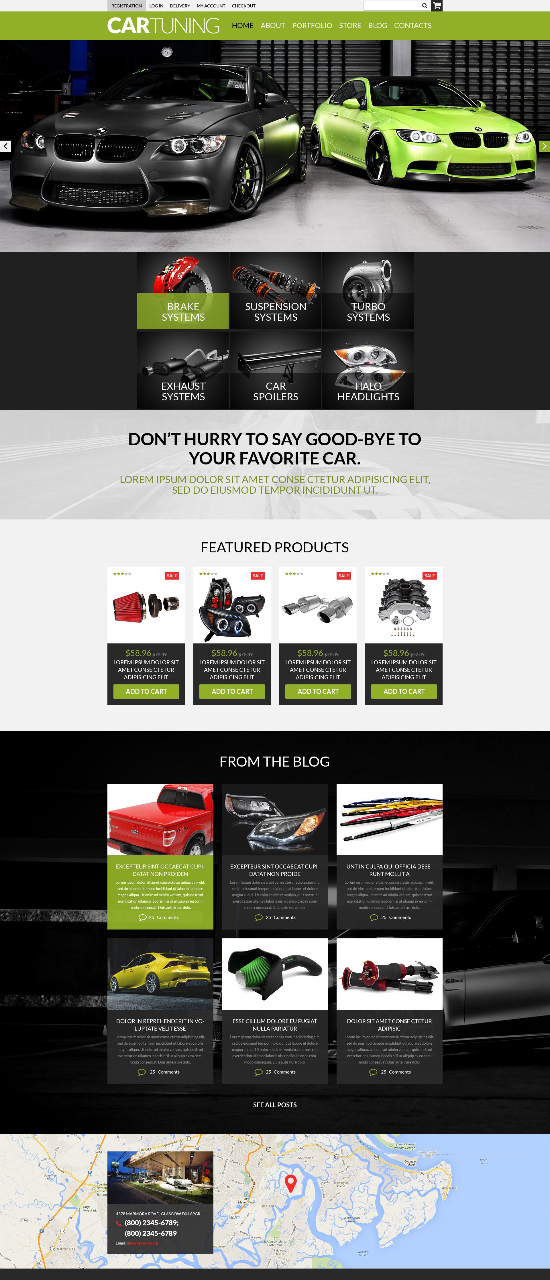 "Tema WooCommerce Responsive #50988 ""Auto Tuning Workshop"" - screenshot"