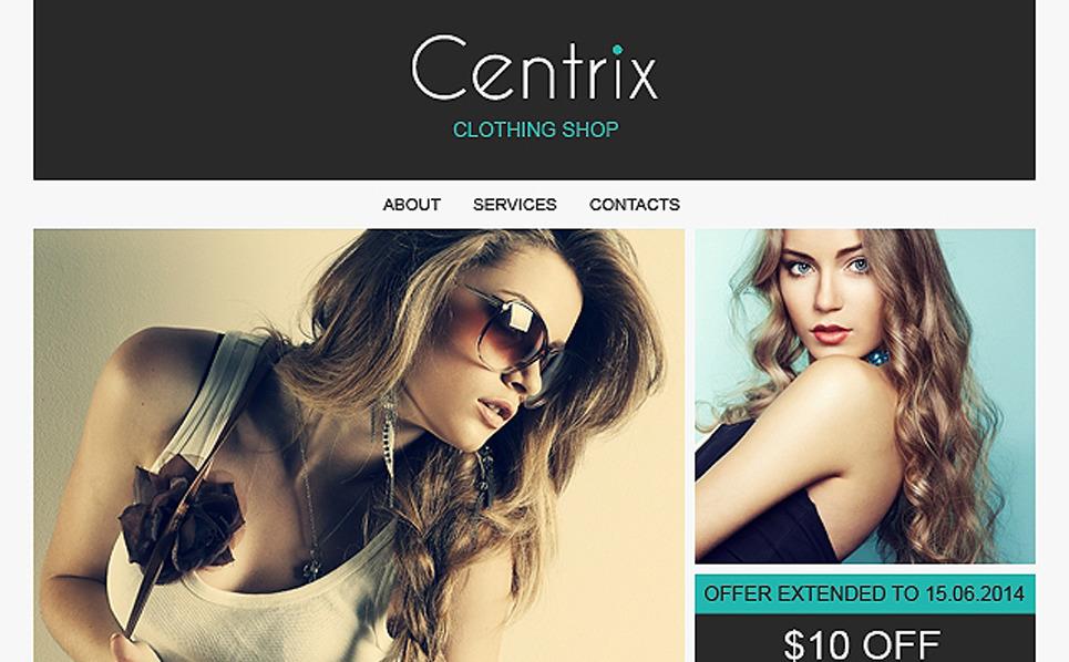 Template de Newsletter Flexível para Sites de Loja de Moda №50929 New Screenshots BIG
