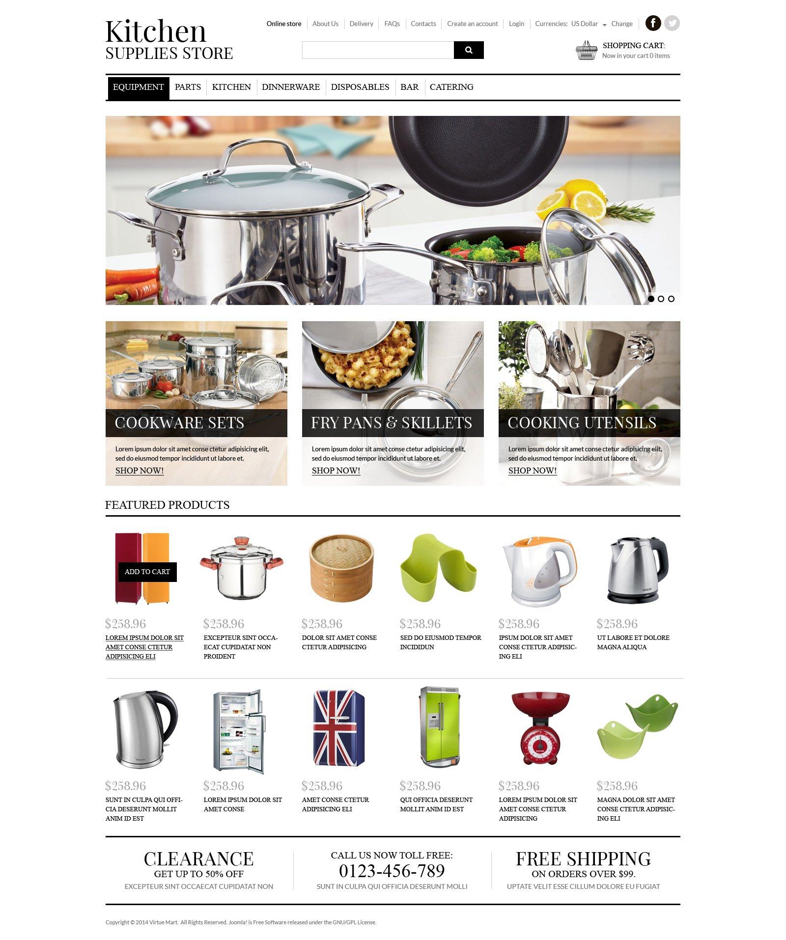 Template VirtueMart #50914 per Un Sito di Articoli per la Casa - screenshot