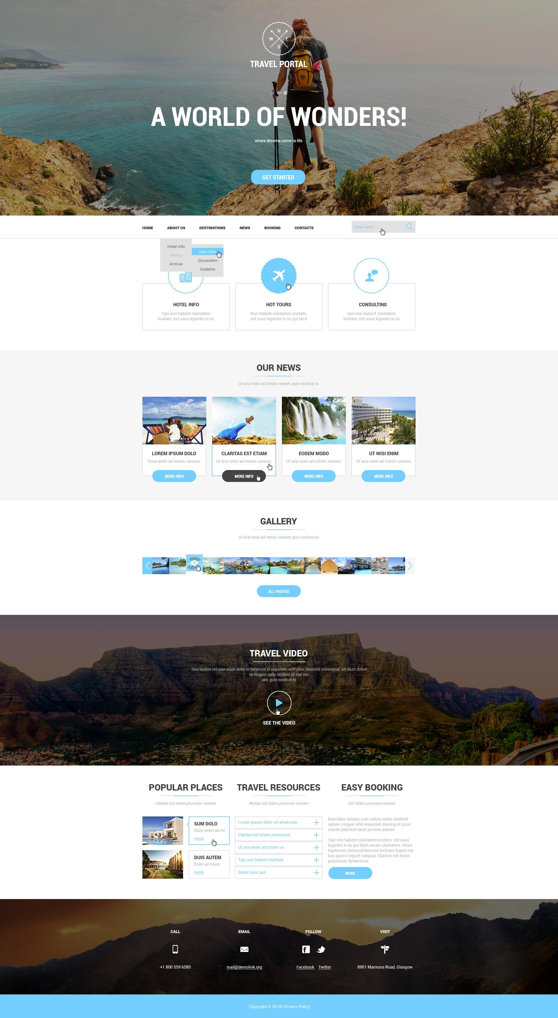 Template Web Flexível para Sites de Agencia de Viagens №50911