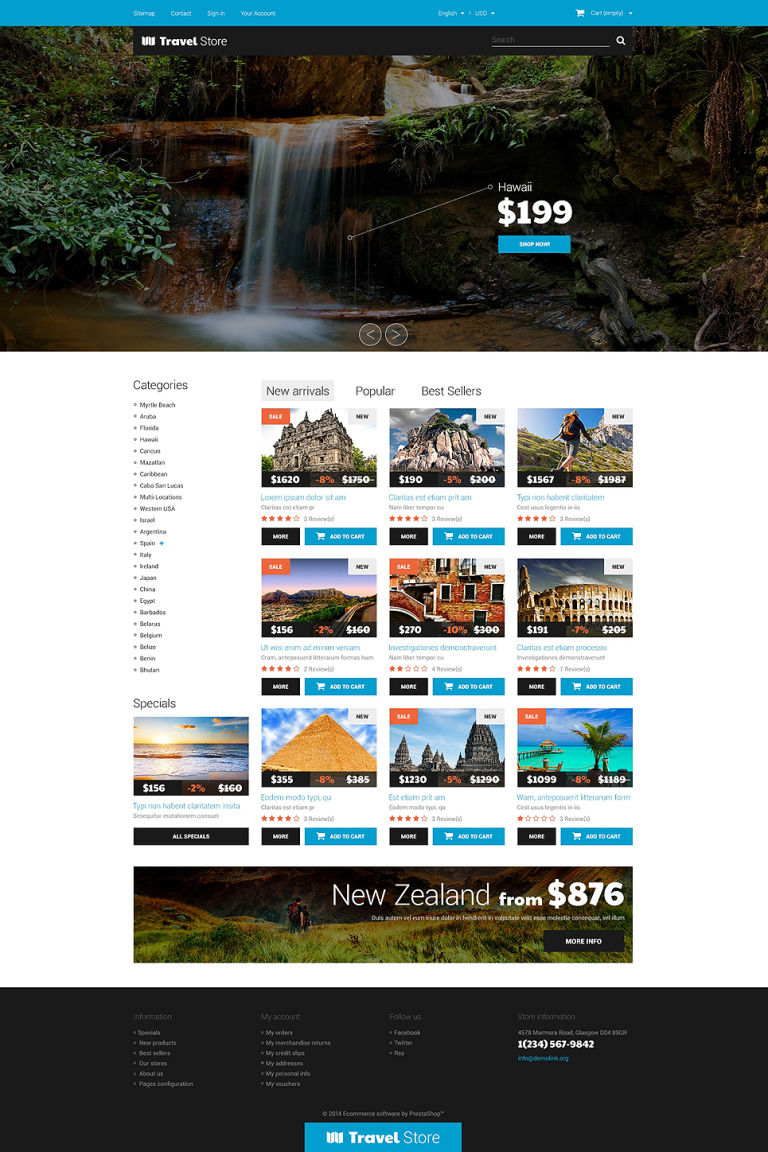 Thrilling Adventures PrestaShop Theme New Screenshots BIG