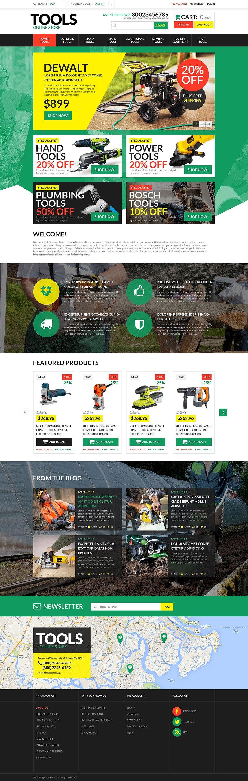 Tools & Equipment PSD Template New Screenshots BIG
