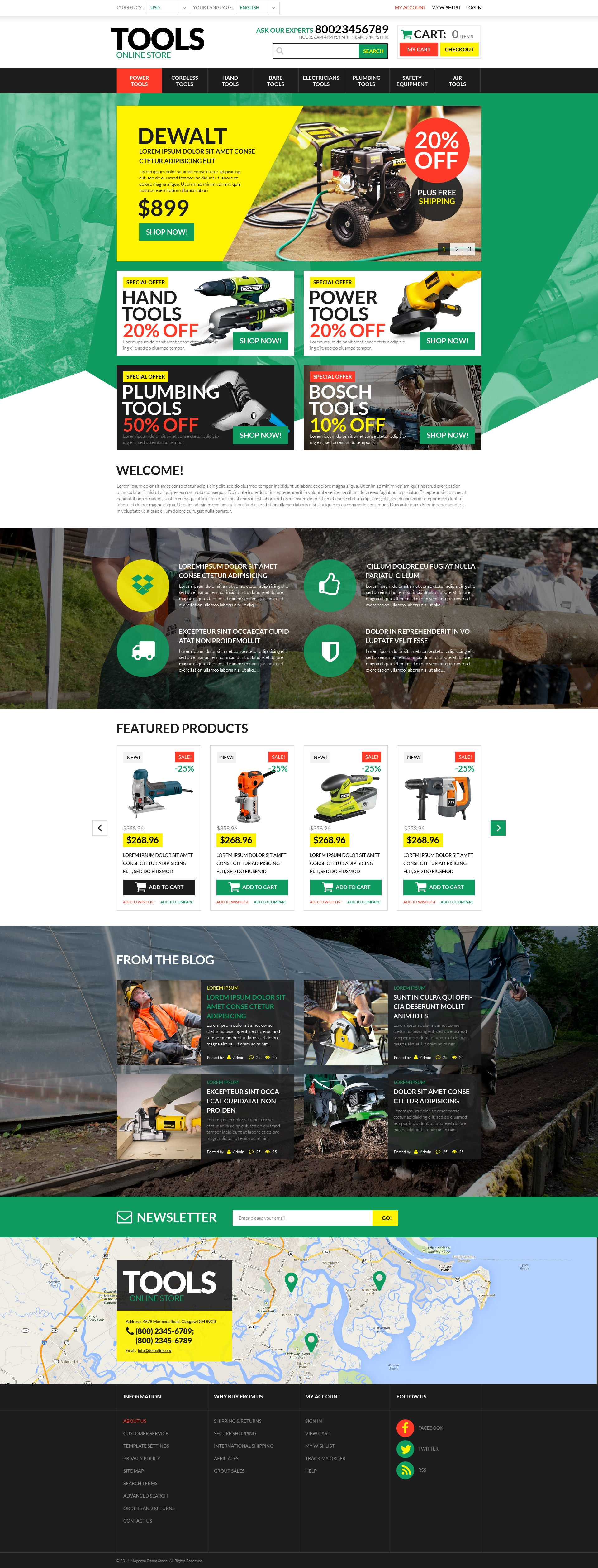 Tools & Equipment PSD Template