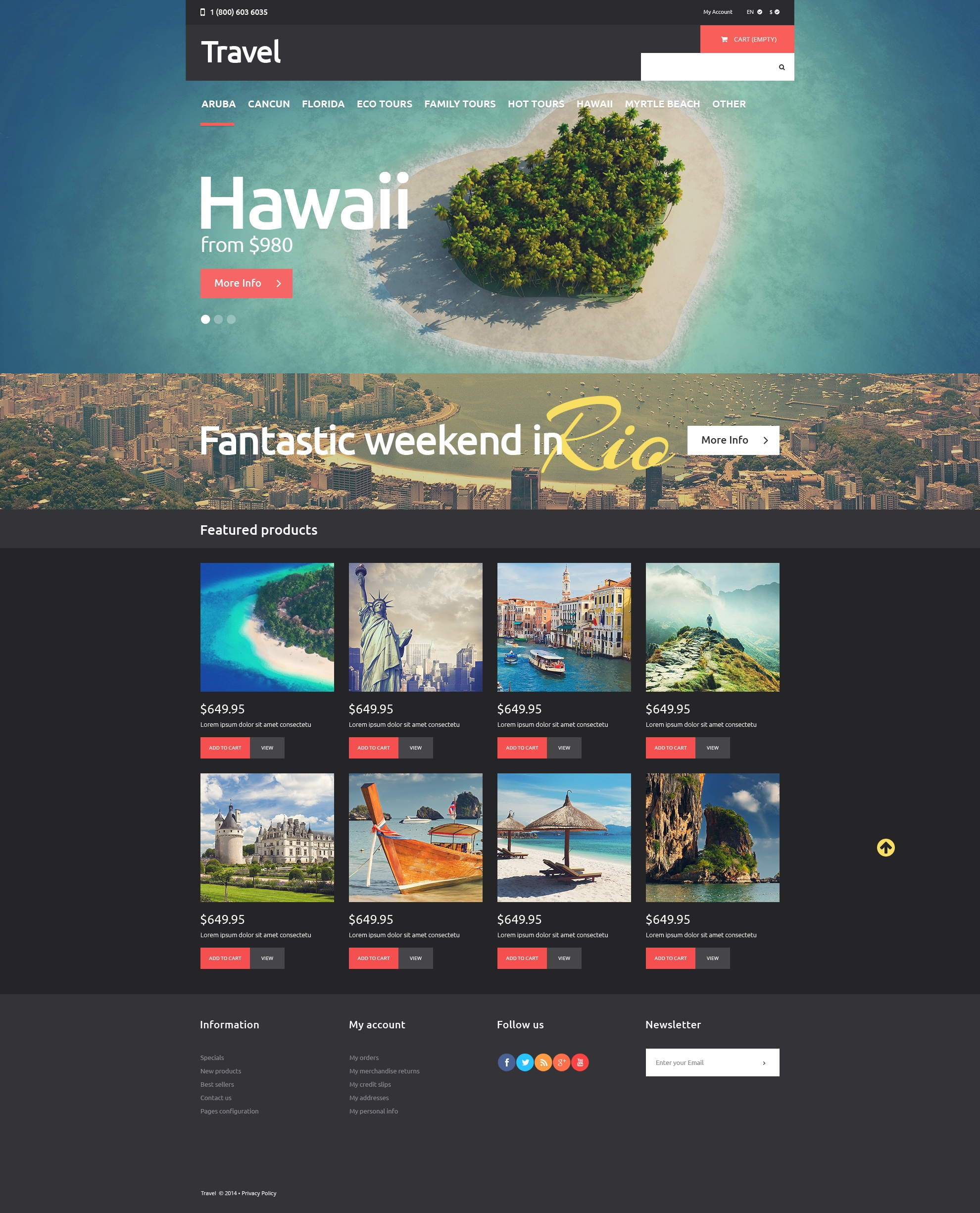 Travel Agency PSD Template - screenshot