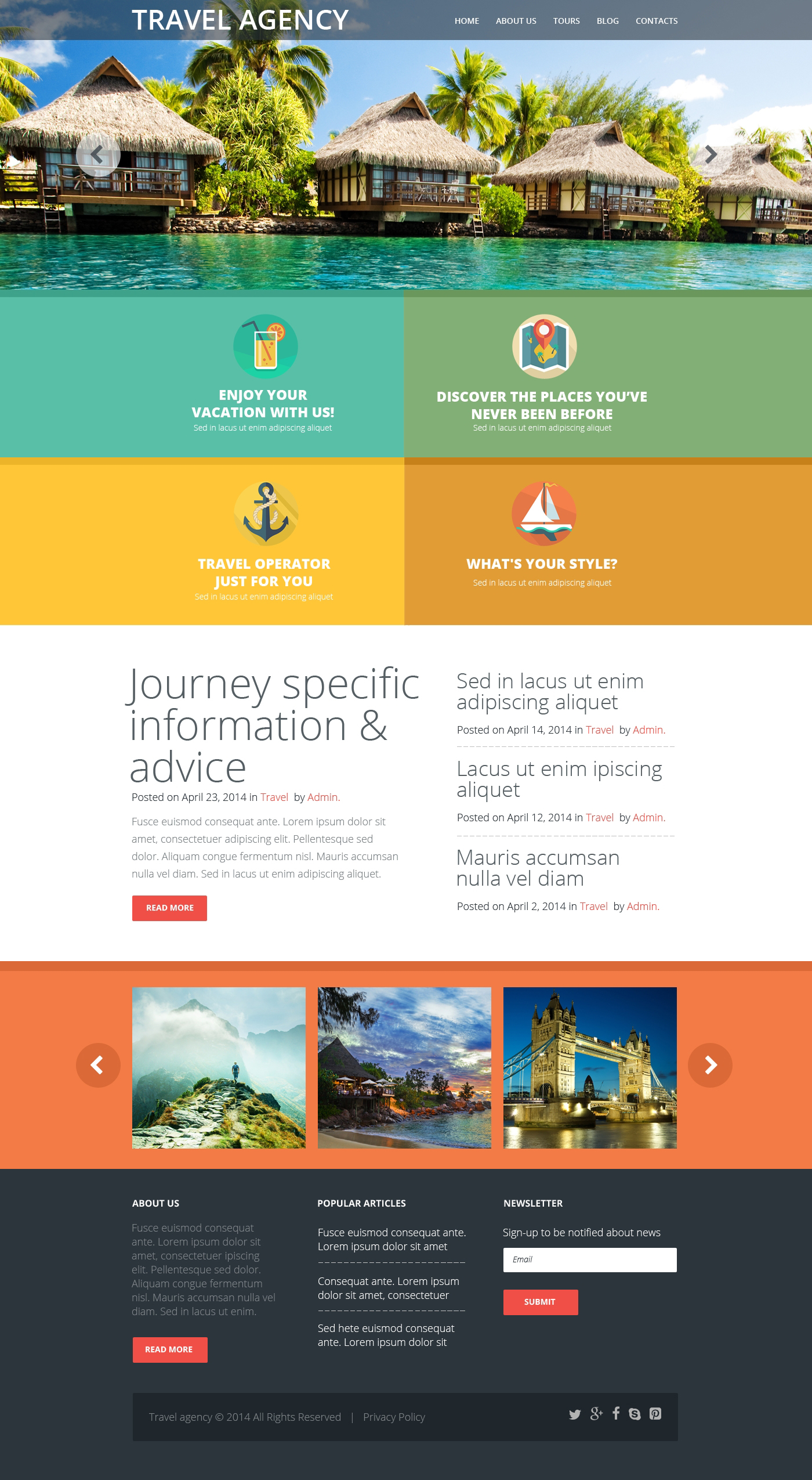 Travel Agency Responsive Website Template 50997