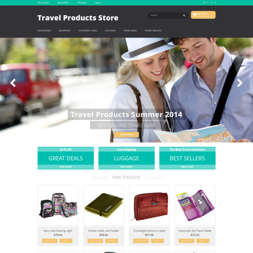Travel Products Store - Responsive Magento Template