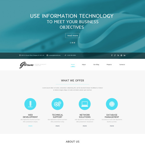 Glorum - WordPress Template based on Bootstrap