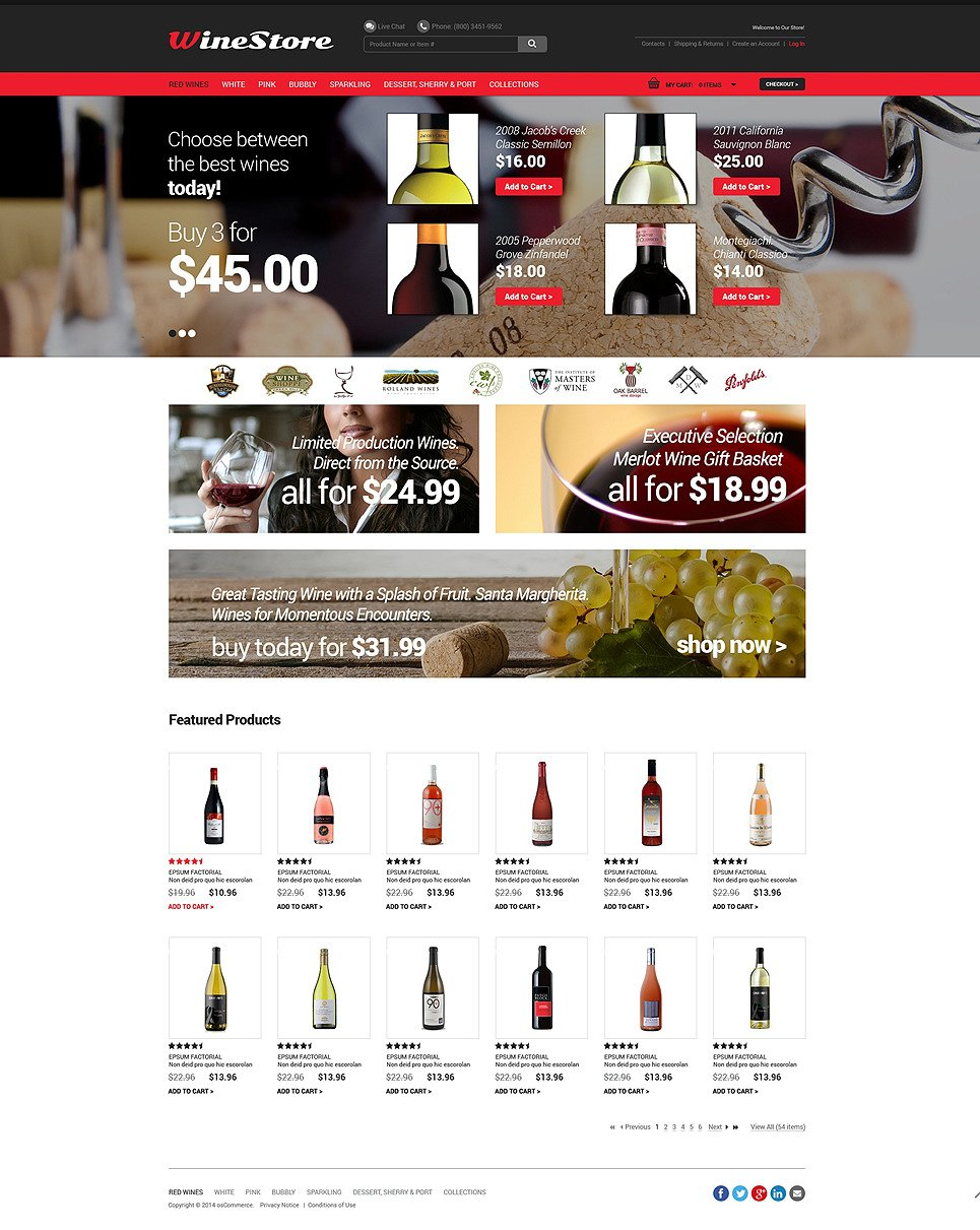 Wine OsCommerce Template New Screenshots BIG