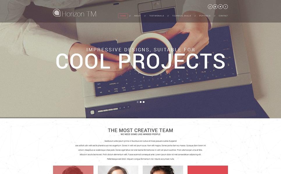 Reszponzív Design studiók  WordPress sablon New Screenshots BIG