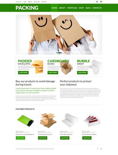 Underhållstjänster Responsivt WooCommerce-tema