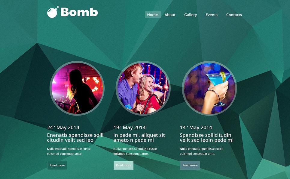 Responsive Website template over Nachtclub New Screenshots BIG