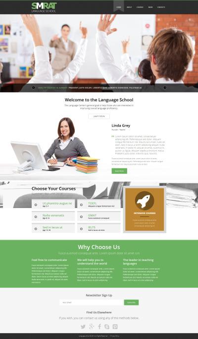 Språkskola Responsivt Joomla-mall