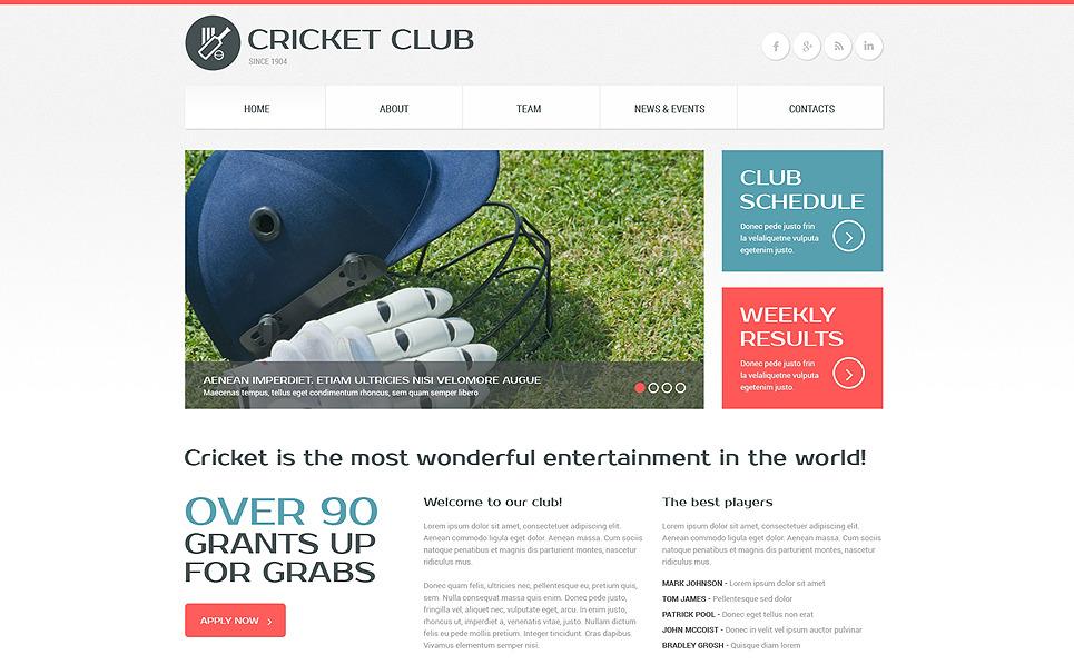 Адаптивний Шаблон сайту на тему крикет New Screenshots BIG