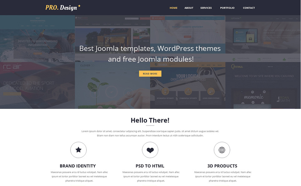 Template Siti Web Responsive #51016 per Un Sito di Design Studio New Screenshots BIG