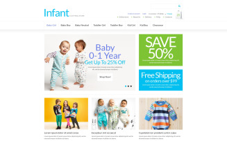 Infant Clothing Store VirtueMart Template