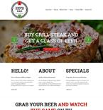 Cafe & Restaurant Website  Template 51021