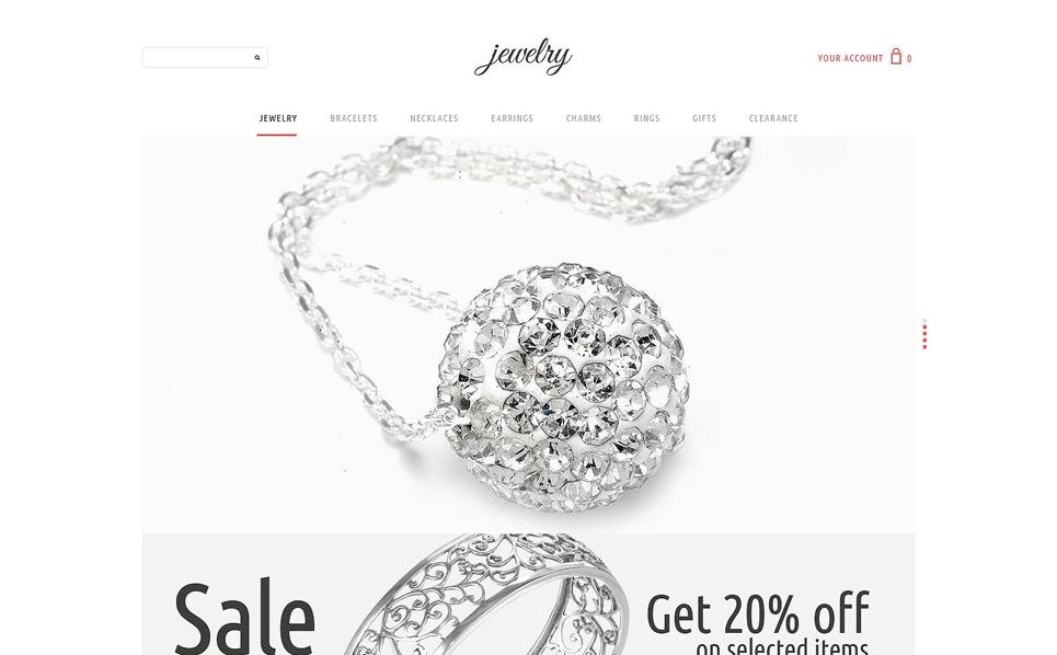 Szablon PSD #51026 na temat: biżuteria New Screenshots BIG