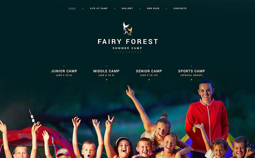 Responzivní WordPress motiv na téma Letní tábor New Screenshots BIG