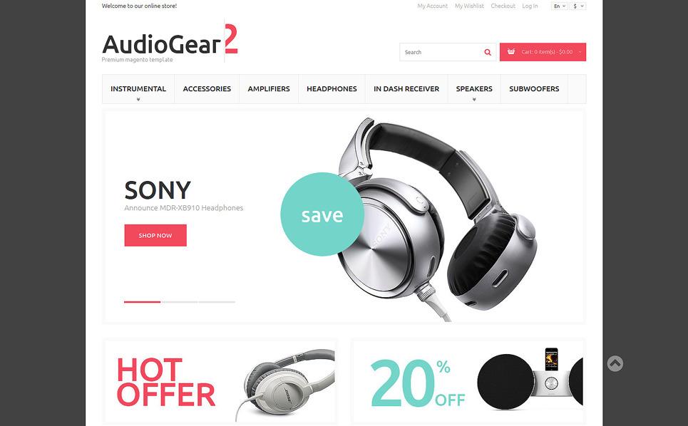 Responzivní Magento motiv na téma Audio Obchod New Screenshots BIG